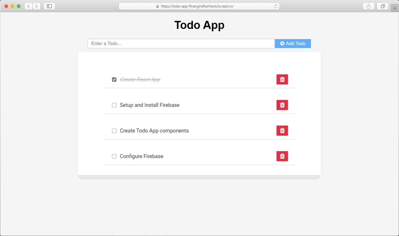 Todo App demo