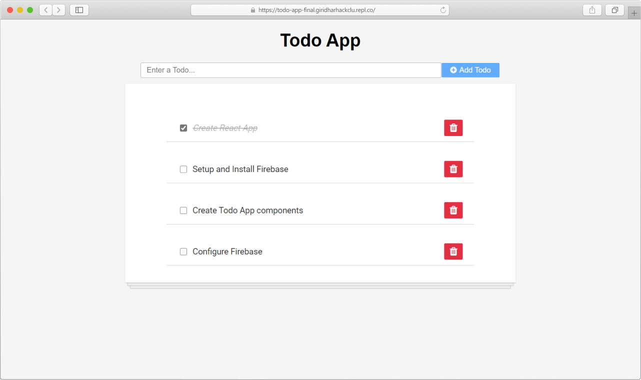 Final todo app